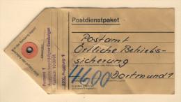 Bund - Beutelfahne Für Ein Postdienstpaket -selten- - BRD