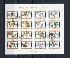 Umm Al Qiwain 1972 Mi# 1450 - 1465  IMPERF ROSES CTO USED - Umm Al-Qiwain