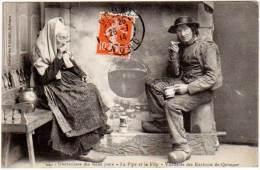 Distraction Des Vieux Jours - Vieillards Des Environs De Quimper ( Pipe / Flip ) - Quimper