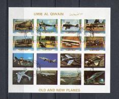 Umm Al Qiwain 1972 Mi # 1290 - 1305  IMPERF OLD AND NEW PLANES CTO USED - Umm Al-Qiwain