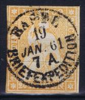 Switserland, 1854 Yv Nr 29  Used - 1854-1862 Helvetia (Ungezähnt)