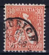 Switserland, 1862 Yv Nr 38 Used  Mi Nr 25 - 1862-1881 Helvetia Seduta (dentellati)