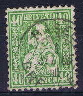 Switserland, 1862 Yv Nr 39 Used  Mi Nr 26 - 1862-1881 Helvetia Seduta (dentellati)