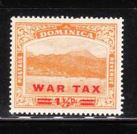 Dominica 1919 War Tax Stamps Surcharged MNH - Dominica (...-1978)