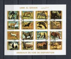 Umm Al Qiwain 1972 Mi # 1386 - 1401  IMPERF WILD ANIMALS CTO USED - Umm Al-Qiwain