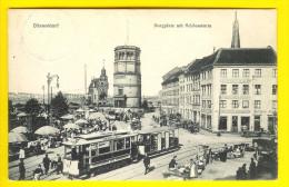 BURGPLATZ Mit SCHLOSSTURM = DUSSELDORF Tram Tramway Markt Marche Market      O30 - Duesseldorf
