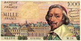 1000 Francs     Richelieu - 1871-1952 Circulated During XXth