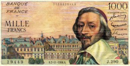 1000 Francs     Richelieu - 1 000 F 1953-1957 ''Richelieu''