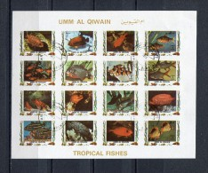 Umm Al Qiwain 1972 Mi # 1322 - 1337  IMPERF TROPICAL FISHES CTO USED - Umm Al-Qiwain