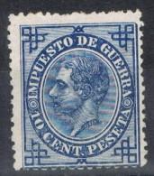 Sello 10 Cts Impuesto De Guerra Alfonso XII, Num 184 * - Impuestos De Guerra