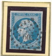 N°14B TYPE II LOSANGE PETITS CHIFFRES. - 1853-1860 Napoléon III