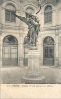 PARIS - 75 -  CPA DOS SIMPLE De La Statue Gloria Vietis - Hotel De Ville -- ENCH11  - - Statues