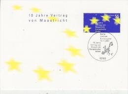 Germany 2003 Treaty Of Maastricht 1v Maximum Card(18841) - Europese Gedachte