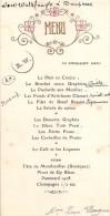 "0687 ""MENU"" HOTEL DE PARIS - G. FALCONNET  1936 ORIGINALE. - Menu"