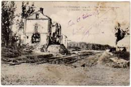 Sillery - La Gare ( La Guerre En Champagne ) - Sillery