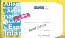 """Spécimen De  Pret à Poster """"POSTEXPORT"""" FORMAT 16X23 Cm Pour L'Union Européenne Et La SUISSE  Document Rare  Voir 2 Scan - Specimen"""