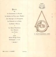 "0691 ""MENU"" HOTEL DE PARIS - G. FALCONNET  1936 A 4 FACCIATE. ORIGINALE. - Menu"