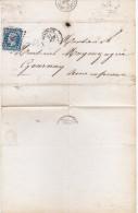 FRANCE Lettre N° 14A Napoléon III PC 332  Cachet Gounay En Bray, Beauvais 1859 - Postmark Collection (Covers)