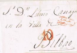 11176. Envuelta Pre Filatelica LORCA (Murcia) 1842 - ...-1850 Prefilatelia