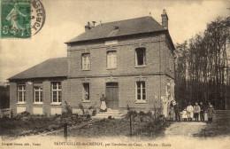 76 Saint Gilles De Cretôt. Mairie Ecole - Frankreich