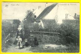 CHAUMIERE DE PECHEUR : HEYST-SUR-MER PECHE VISSER HEIST LITTORAL KUST KNOKKE KNOCKE 1890 - Heist