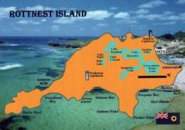 Postcard - Rottnest Island (Map), Australia. A - Other