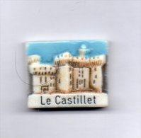 RARE Fève - LE CASTILLET De PERPIGNAN Des Pyrénées-orientales 66 P-O - Regio's