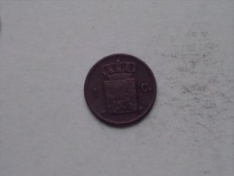 1877 - 1 Cent / KM 100 ( Uncleaned Coin - For Grade, Please See Photo ) !! - [ 3] 1815-… : Kingdom Of The Netherlands