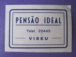 HOTEL PENSAO RESIDENCIAL MOTEL PENSION CASA IDEAL VISEU TAG DECAL STICKER LUGGAGE LABEL ETIQUETTE AUFKLEBER PORTUGAL - Hotel Labels