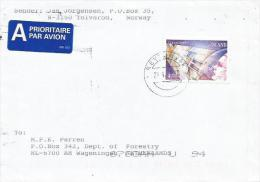 Iceland Island 1998 EUROPA CEPT Space Satellite Cover - 1944-... Republique