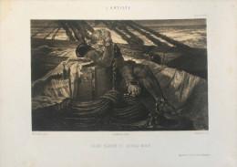 Célestin NANTEUIL - Colomb Ramené Du Nouveau Monde  - Lithographie Publiée Par L´Artiste - Lithographies