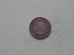 1894 KB - 20 Centesimi / KM 28.1 ( Uncleaned Coin - For Grade, Please See Photo ) !! - 1878-1900 : Umberto I