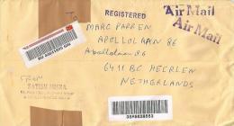 "India 2014 Rajendra Nagar Meter Franking Postal Training Centre Of Mysore ""Meghdoot"" Customs Barcoded Registered Cover - India"