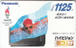 JAPAN - Panasonic Official Worldwide Sponsor Of The Atlanta 1996 Olympics, NTT Telecard 50 Units(110-011), Used - Juegos Olímpicos