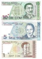 Kyrgyzstan Set 3 Banknotes UNC .S. - Kyrgyzstan