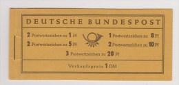 Duitsland, Deutschland, Germany, Allemagne, Alemania Michel Pb, Postzegelboekje, Carnet 102B ; 1954  VERY SPECIAL - BRD