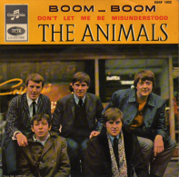 "* 7"" EP *  ANIMALS - BOOM BOOM / DON´T LET ME BE MISUNDERSTOOD (France 1964) - Rock"