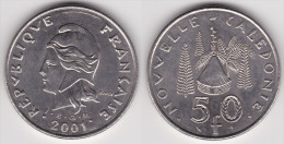 NOUVELLE CALEDONIE : 50 FRANCS 2001 SUPERBE (voir Scan) - Nuova Caledonia