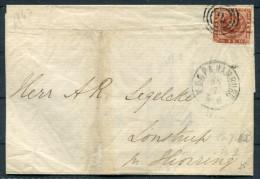 1862 Denmark 4sk Cover KDOPA Hamburg - 1851-63 (Frederik VII)
