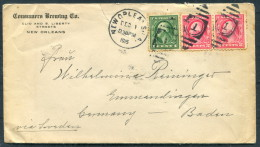 1915 USA Consumers Brewing Company New Orleans Cover - Germany - United States