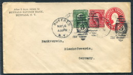 1911 USA Buffalo Savings Bank New York Uprated Stationery - Bankverein Bischofswerda Germany - United States