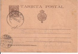 TARJETA POSTAL -- COMUNICACIONES - 10 CENTIMOS , VITORIA - LUNEN, GERMANIA, 1899 - Interi Postali
