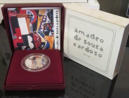 VF ESTOJO  PROOF DE PORTUGAL DE 100 ESCUDOS AMADEU SOUZA CARDOSO 1987 - Portogallo