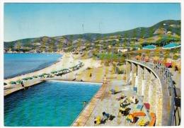 ISOLA D'ELBA - GOLFO DELLA BIODOLA - SPIAGGIA E PISCINA HOTEL HERMITAGE - ANNI '60 - Livorno