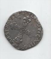LOUIS XIII.1617 T.NANTES.1/4 D ECU.FRAPPE AU MARTEAU.DR 45. - 1610-1643 Louis XIII Le Juste
