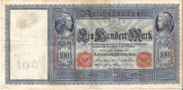 BILLETE DE ALEMANIA DE 100 MARK DEL AÑO 1909 SERIE D  (BANKNOTE) - [ 2] 1871-1918 : Empire Allemand