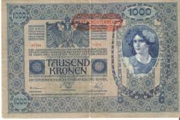 BILLETE DE AUSTRIA DE 1000 KRONEN  DEL AÑO 1902 (BANK NOTE) 1ª AUFLAGE - Austria