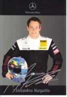 DTM 2006  -   AMG-Mercedes Driver  -  Alexandros Margaritis  -  Carte Promo - Sport Automobile