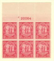 USA SC #683 MNH PB6  1930 Carolina-Charleston #20064, CV $50.00 - Plate Blocks & Sheetlets