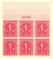 USA SC #688 MNH PB6  1930 Braddock's Field #20169, CV $40.00 - Plate Blocks & Sheetlets